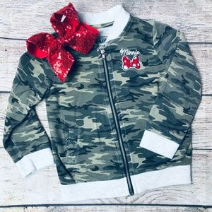 Toddler Girl 2T Disney Minnie Mouse Camo Jacket